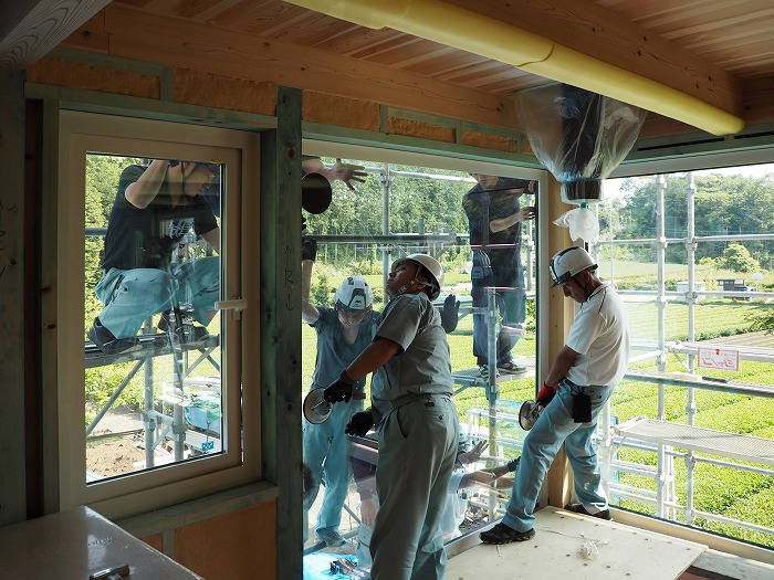 富士宮市新築住宅 トリプルガラス取付 内側