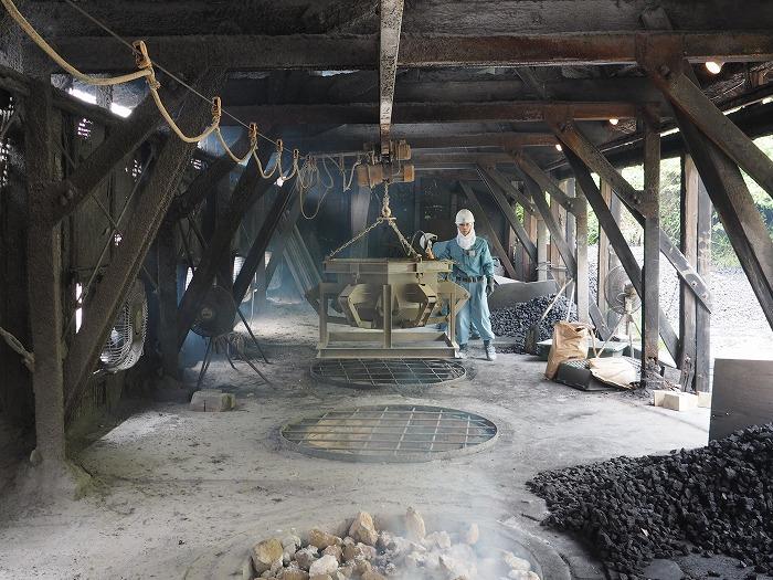 石灰石の焼成工程