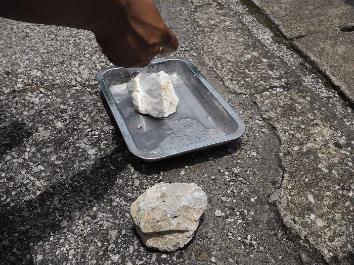 シックイの製造過程 生石灰の水和反応