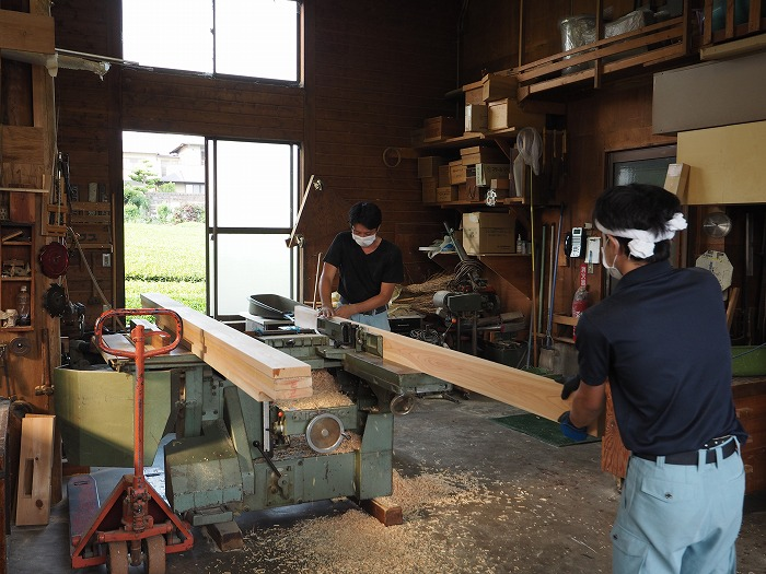 富士宮市 薪ストーブの家 造作加工