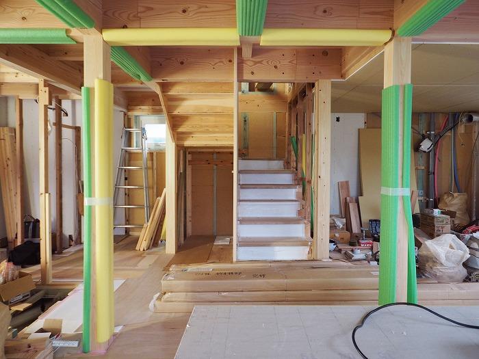 富士宮市新築住宅 Jパネル階段