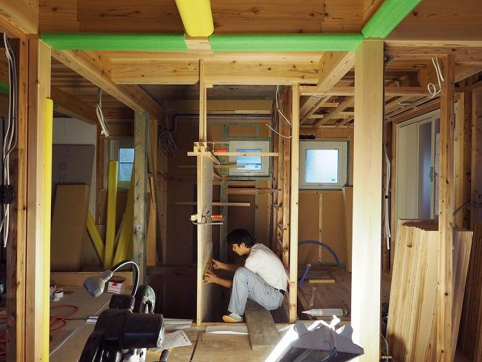 富士宮市新築住宅 Jパネル階段 施工