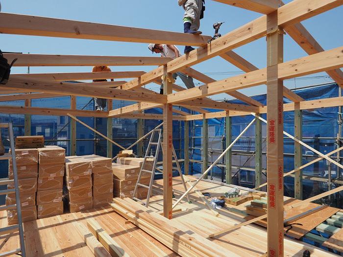 富士市 新築住宅 上棟