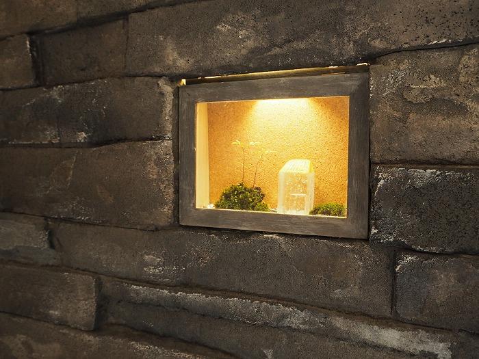 富士市 新築住宅 モルタル造形と灯り