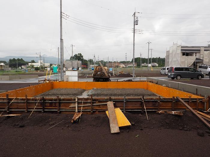 富士宮市 新築工事 耐震等級3の基礎