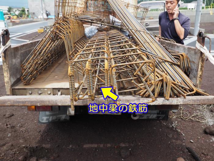 富士宮市 新築工事 耐震等級3の地中梁鉄筋