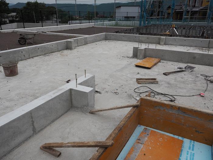 富士宮市 新築住宅 耐震等級3の基礎完成