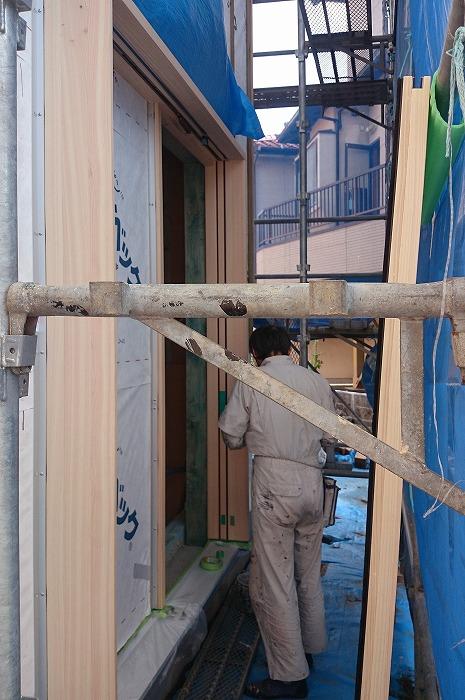 富士市 新築住宅 木のドア