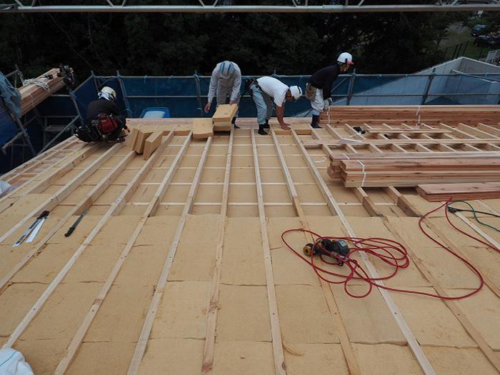 富士宮市 新築住宅 木質繊維断熱材
