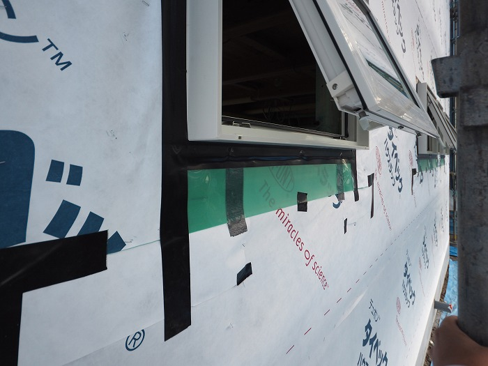 富士宮市 新築住宅工事現場 樹脂サッシ