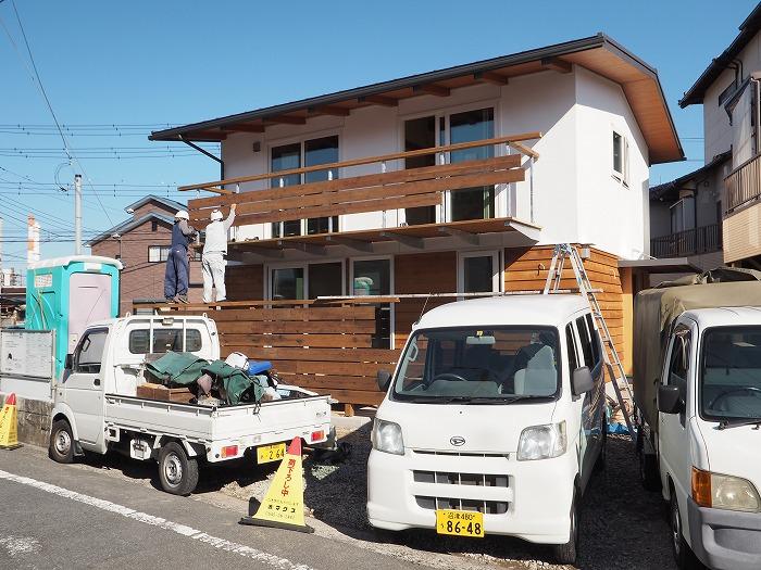 富士市 新築住宅 ウッドデッキとウッドバルコニー
