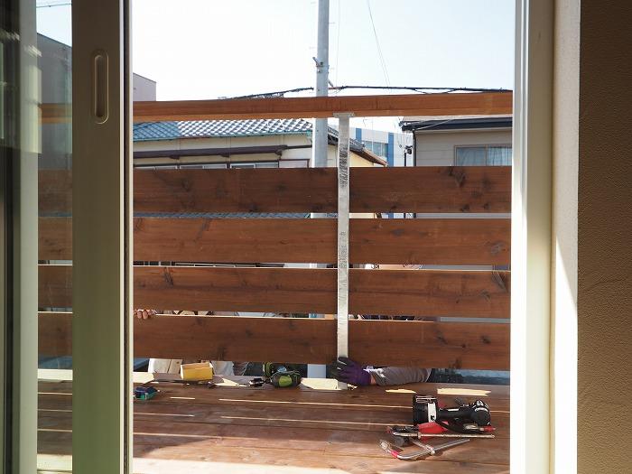 富士市 新築住宅 ウッドバルコニー内部