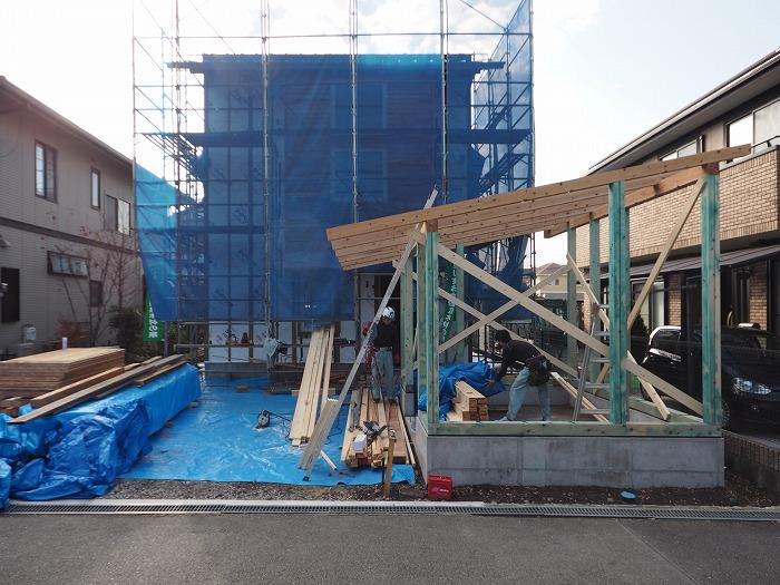 富士市 新築住宅 物置上棟