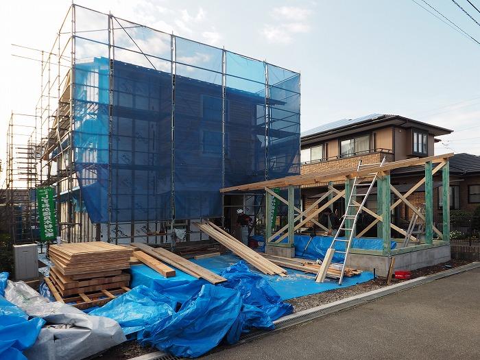 富士市 新築住宅 離れ上棟
