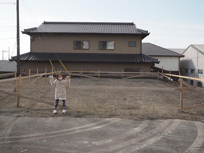 富士市 新築住宅モデルハウス 丁張り