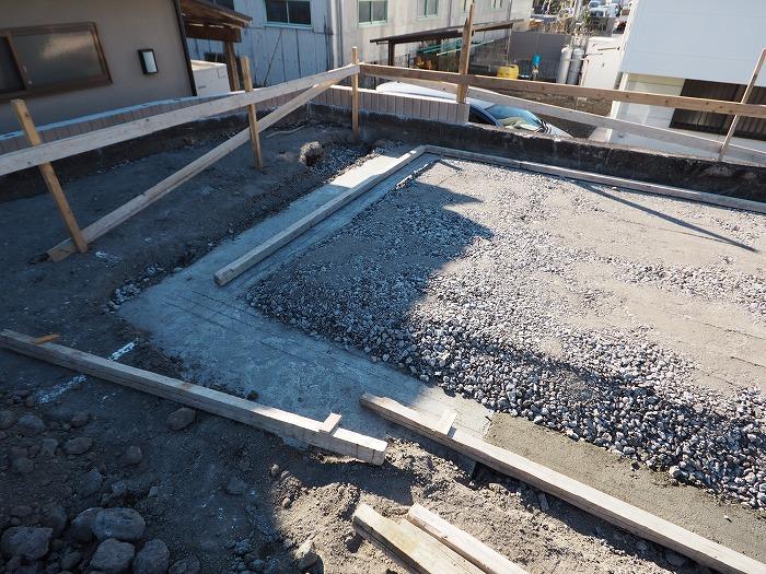 富士市 新築住宅モデルハウス べた基礎底盤