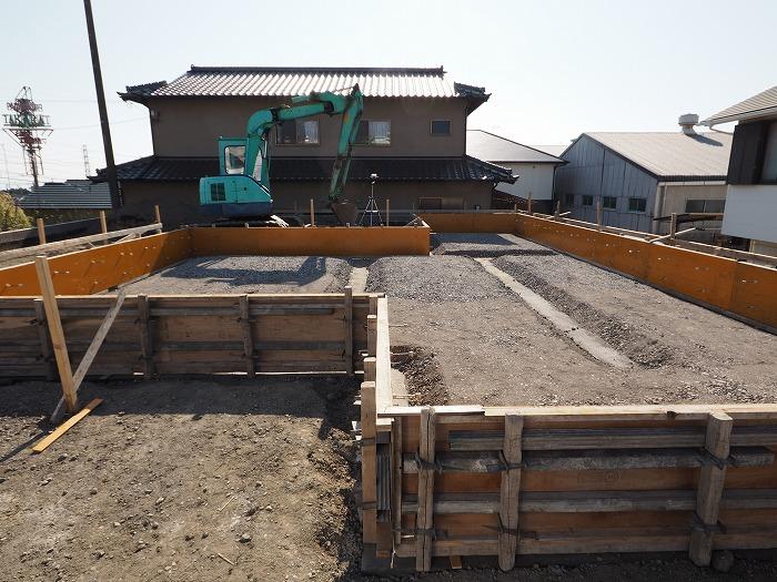 富士市 新築住宅モデルハウス べた基礎下地