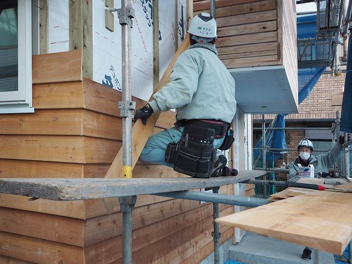 富士市 新築住宅 外壁木製サイディング貼り