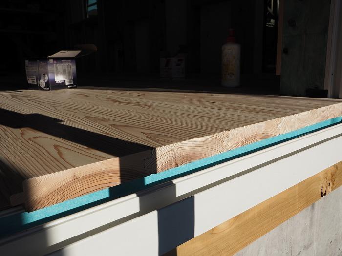 富士市 新築住宅 杉の厚板の床