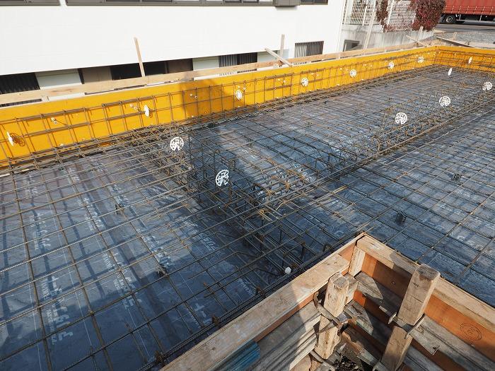 富士市 新築住宅 基礎工事 地中梁の鉄筋