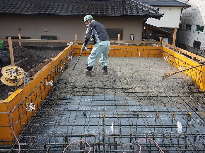 富士市 新築住宅 基礎工事