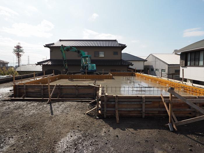 富士市 新築住宅 基礎ベース工事完了