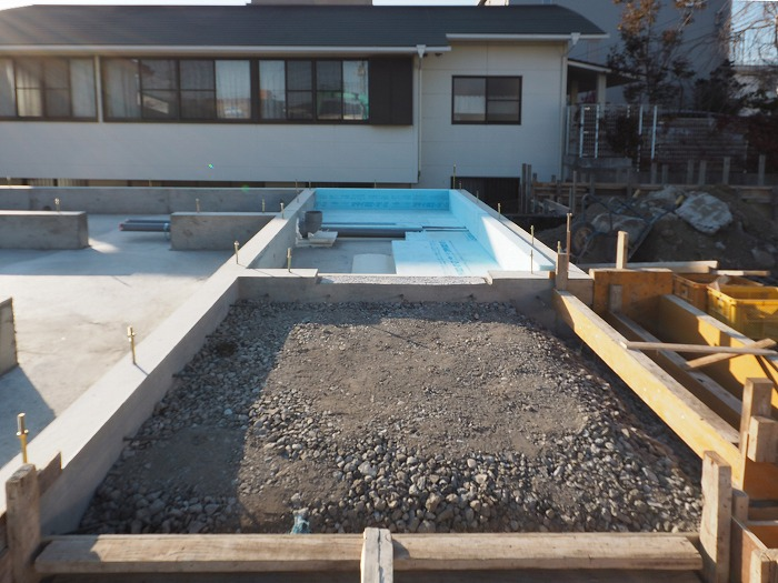 富士市 モデルハウス 玄関土間の基礎断熱