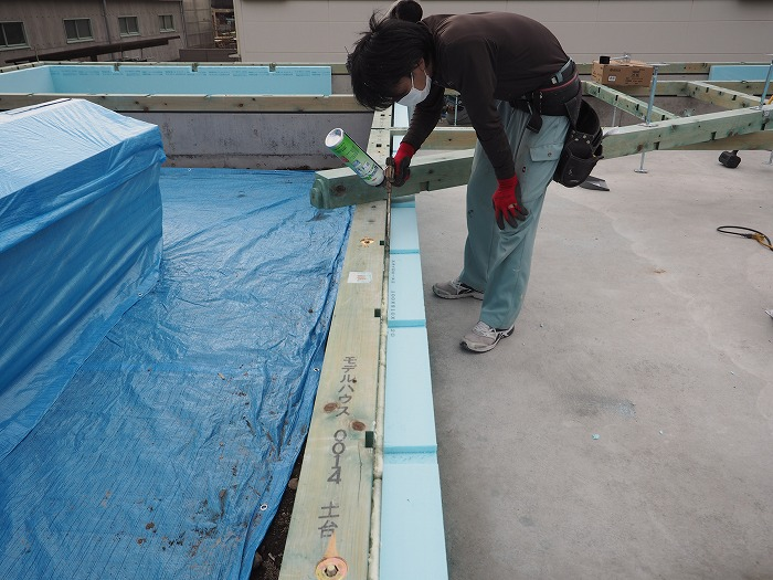 富士市 モデルハウス 基礎断熱工法施工