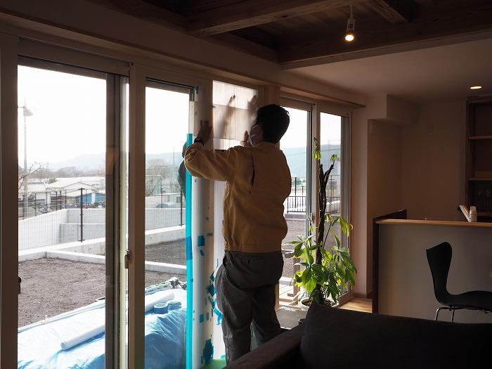 富士宮市 新築住宅気密測定 目張り