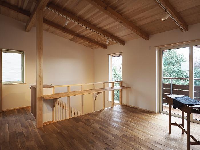 富士宮市 新築住宅 完成見学会 土佐和紙と北海道のナラ床