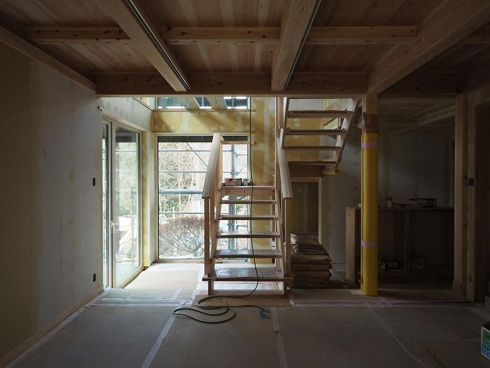 小山町 薪ストーブの家 階段