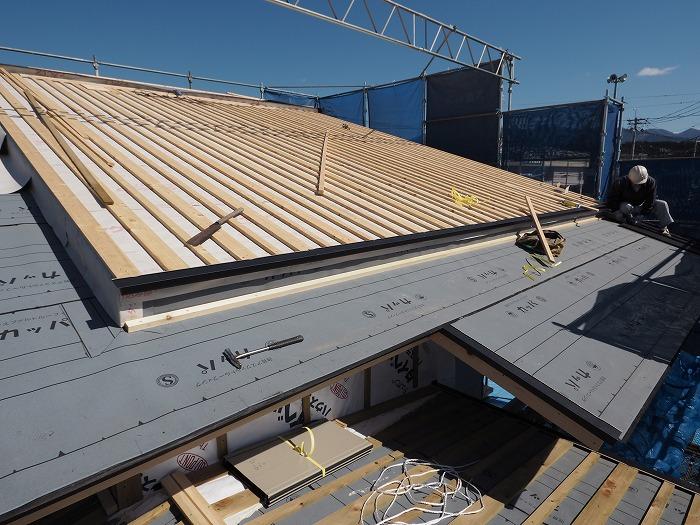 富士市 新築住宅 ふがくまちや 屋根下地