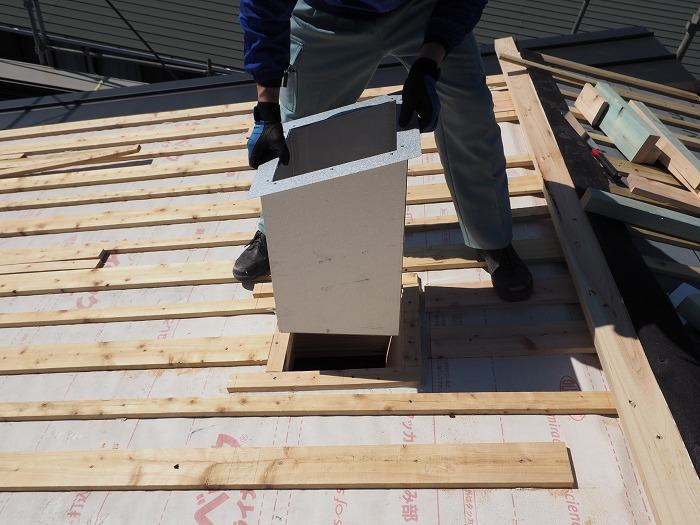 富士市 新築住宅 ふがくまちや パッシブソーラー屋根貫通