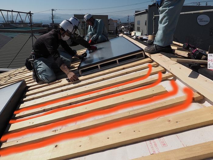 静岡県富士市 モデルハウス パッシブソーラーの施工