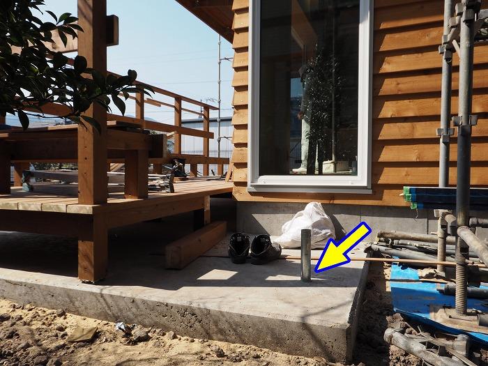 富士市 新築住宅 ウッドデッキからスラックライン