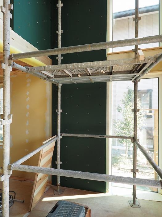 富士市 新築住宅の完成見学会前 ボルダリング壁