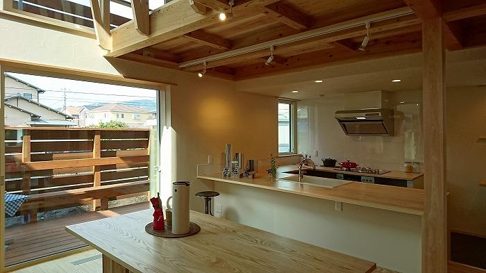 富士市 新築住宅 造作コの字型キッチン