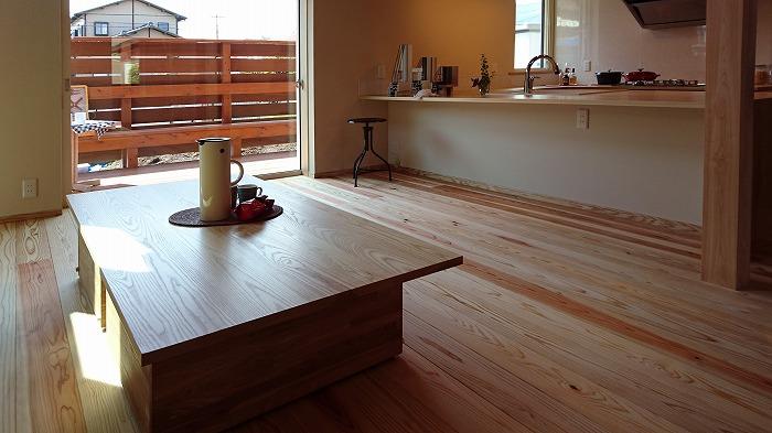 富士市 新築住宅 造作ダイニングテーブル