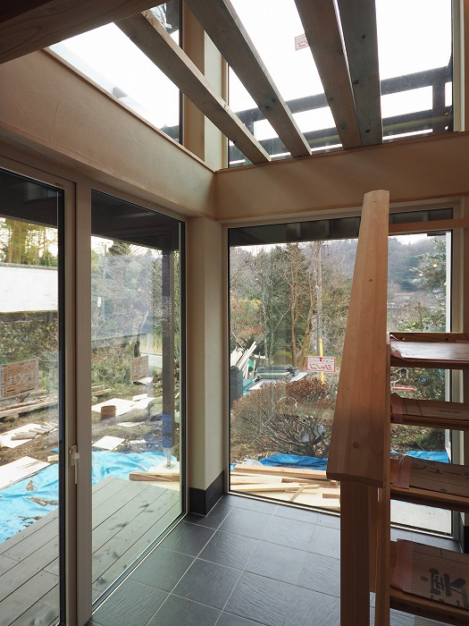 静岡県小山町 トリプルガラスの樹脂サッシ