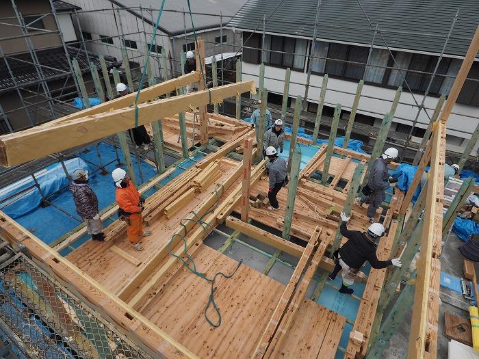静岡県富士市 マクスのモデルハウス ふがくまちや 天竜の構造材