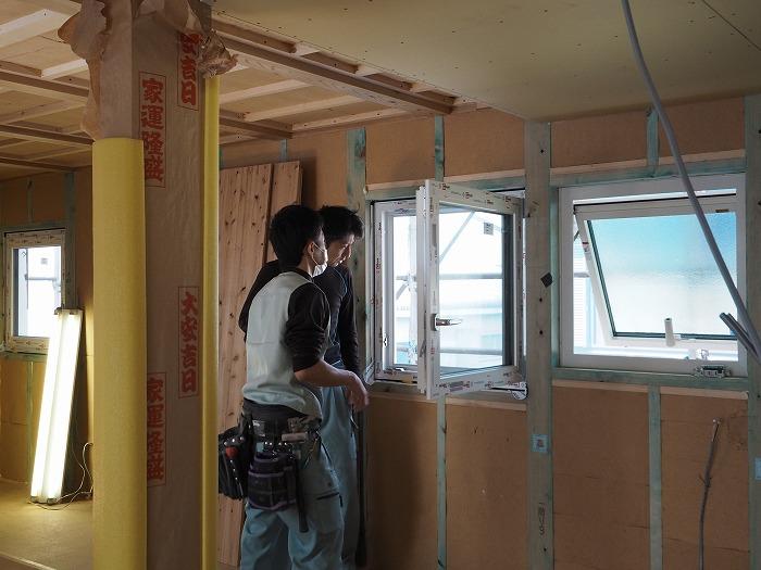 高断熱住宅の施工