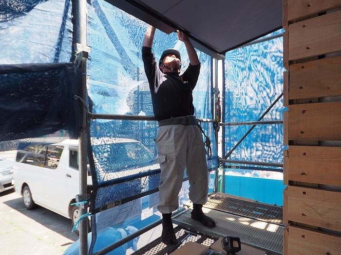 富士市 モデルハウス ふがくまちや工事風景