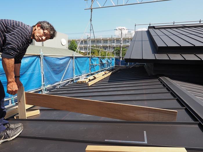 マクスモデルハウス 屋根の上にて