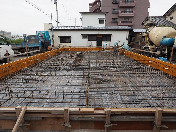 清水町 住宅新築工事 基礎工事の配筋