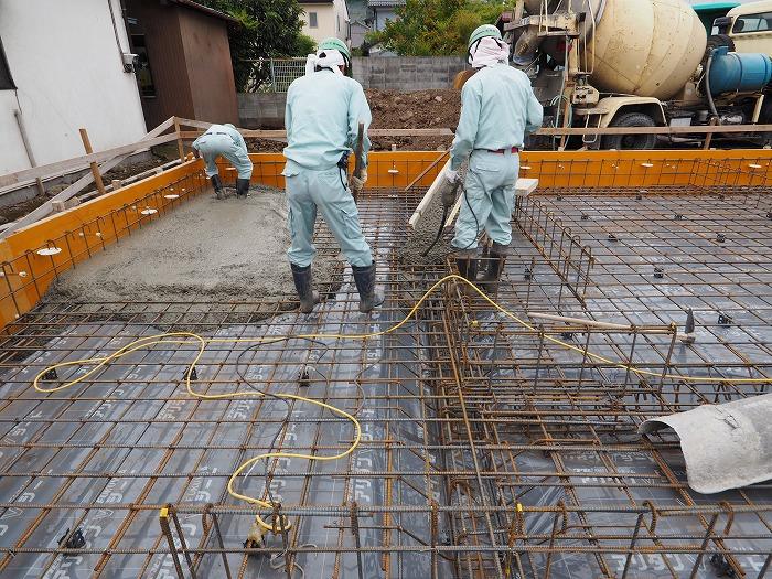 清水町 住宅新築工事 基礎工事の地中梁