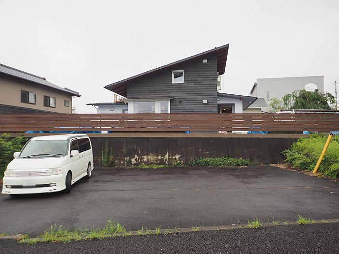 富士市 モデルハウス 足場が取れたふがくまちや