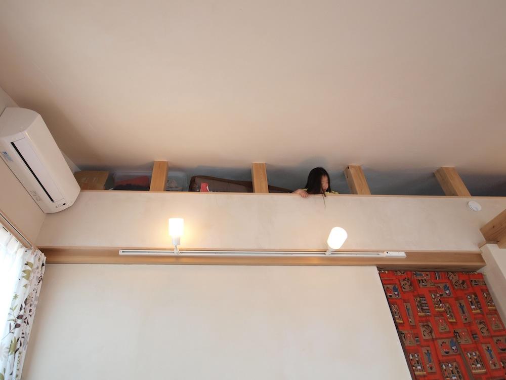 木造三階建て+ロフトの四層構造で立体的な作り