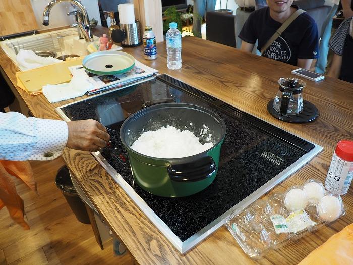富士市 モデルハウス スーパーラジエントヒーターで炊いた美味しいご飯