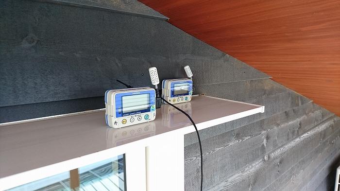 富士市 モデルハウス 温度測定
