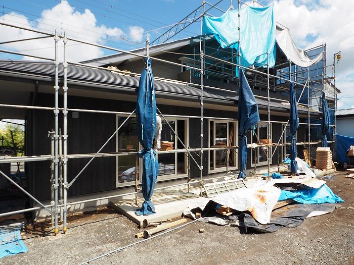 清水町 住宅新築工事 木の外壁の現場